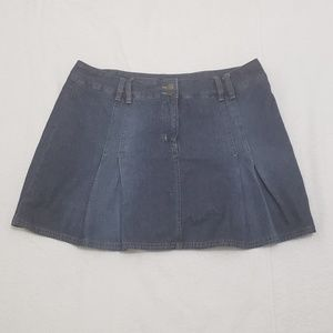 New York & Company Womens Blue Jeans Skirt
